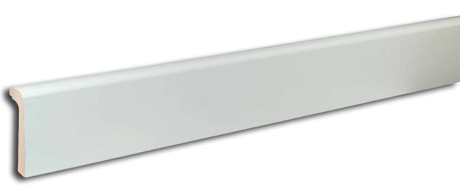 Copri battiscopa in mdf bianco asta da 240 cm ebay for Copri battiscopa bricoman