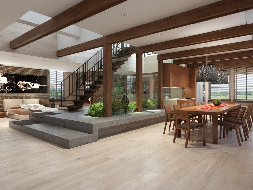 I migliori trend in legno per i pavimenti parquet laminati for Case moderne con parquet