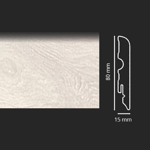 Battiscopa Rovere Aspen Asta da 240 cm