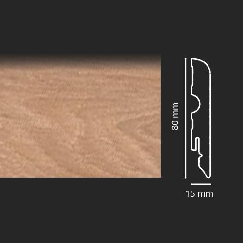 Battiscopa Rovere Chiaro Spazzolato Asta da 240 cm