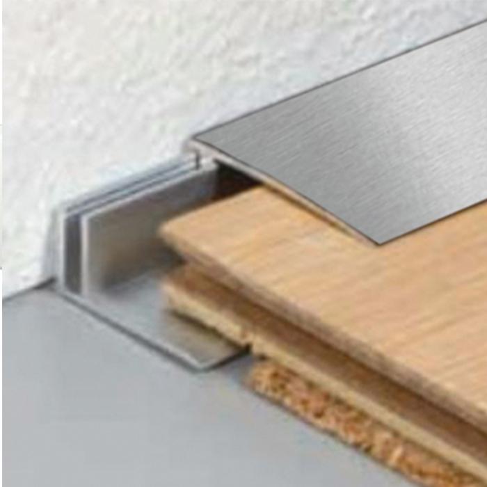 Profilo Terminale in alluminio satinato