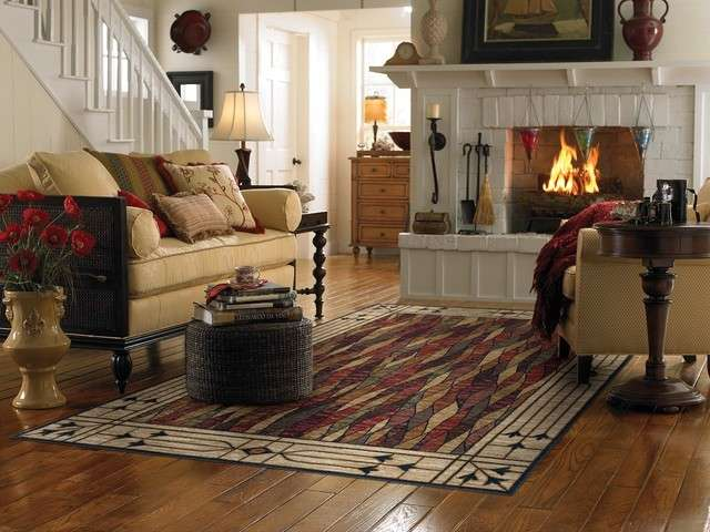Un tappeto etnico per una casa dall atmosfera esotica parquet